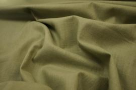 Tkanina lniana w oliwkowym odcieniu