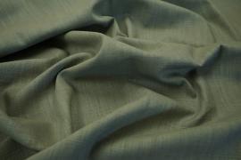 Tkanina lniana w zielono-brązowym odcieniu