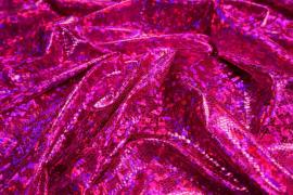 Lama hologram w kolorze fuksji