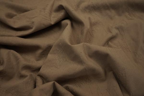 Bawełna haftowana w kolorze brązowym