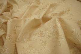 Bawełna haftowana w kolorze beżowym