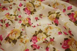 Bawełna haftowana w kwiatki
