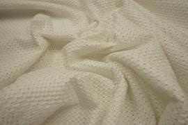 Bawełna haftowana w kolorze ecru