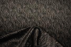 Welur w czarne prążki