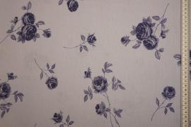 Tkanina sukienkowa - niebieskie róże