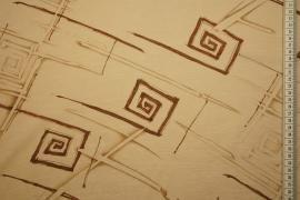 Tkanina sukienkowa - geometryczny wzór