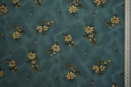 Tkanina sukienkowa - beżowe kwiaty