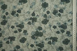 Tkanina sukienkowa - szara koniczyna