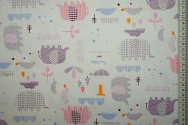 Bawełna drukowana w słonie