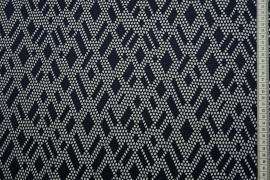 Tkanina sukienkowa w kolorze ciemnogranatowym o ażurowym wzorze