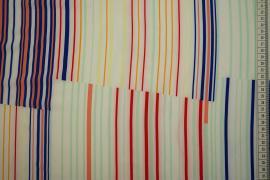 Tkanina sukienkowa w kolorowe paseczki