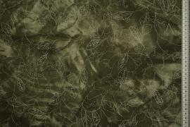 Tkanina żorżeta w kolorze zgniłej zieleni