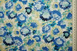 Bawełna drukowana w wielokolorowe kwiaty