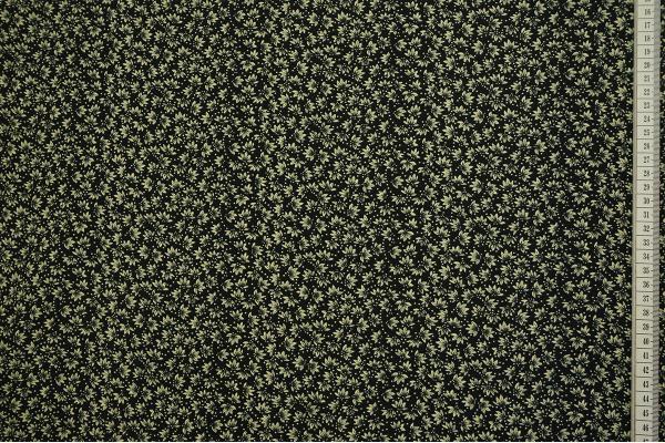 Tkanina sukienkowa w kolorze czarnym w drobne kwiatki koloru ecru