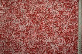 Bawełna popelina w czerwone wzory