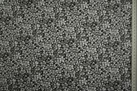 Bawełna popelina w drobne szare kwiatki