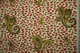 Bawełna popelina w czerwone cętki