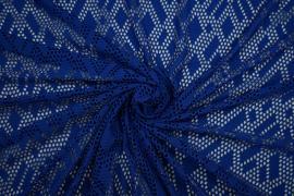 Koronka w kolorze niebieskim