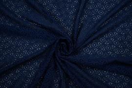 Koronka w kolorze ciemnoniebieskim