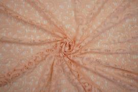 Koronka w paski w kolorze łososiowym