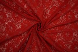 Koronka w kolorze czerwonym