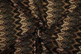 Koronka w kolorze brązowym