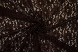 Koronka w kolorze czekoladowym