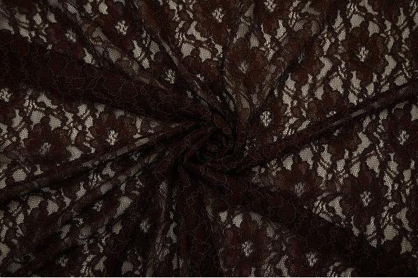 Koronka w kolorze czekoladowym - zwinięta