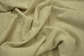 Tkanina poliestrowa kreszowana w kolorze beżowym