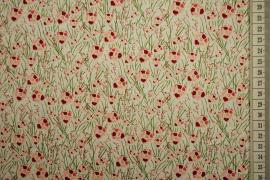 Bawełna drukowana - jasnozielone tło w kwiatki