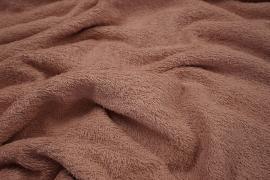 Bawełna frota / frotte w kolorze brudnego różu