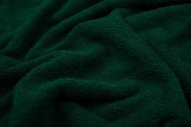 Bawełna frota / frotte w kolorze butelkowej zieleni