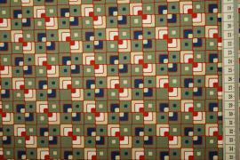 Bawełna drukowana - kolorowe kwadraty