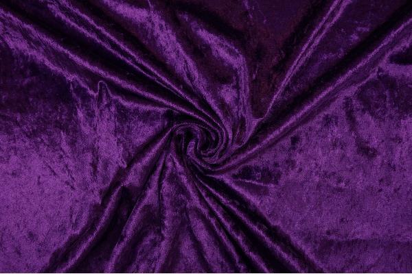 Welur w kolorze ciemnofioletowym