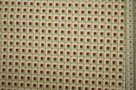 Bawełna drukowana w kolorowe trójkąty