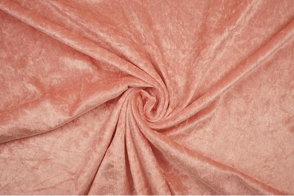 Welur w kolorze pudrowy róż