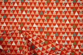 Bawełna drukowana w trójkąty