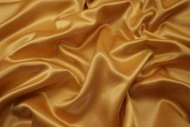 Satyna żorżeta w kolorze złotym