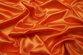 Satyna żorżeta w kolorze pomarańczowym