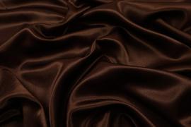 Satyna żorżeta w kolorze czekoladowym