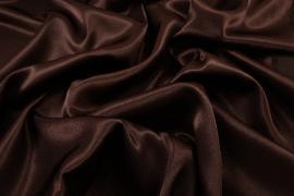 Satyna żorżeta w kolorze brązowym