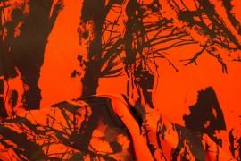 Tkanina kamuflażowa w kolorze pomarańczowym