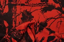 Tkanina kamuflażowa w kolorze pomarańczo-czerwonym
