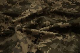 Tkanina ortalionowa - kamuflaż cyfrowy beżowo-zielony