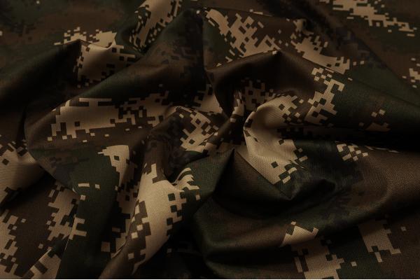 Tkanina kamuflażowa - kamuflaż cyfrowy brązowo-beżowy