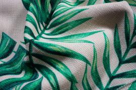 Len z wiskozą - zielone liście