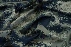 Tkanina kamuflażowa - kamuflaż cyfrowy zielono-granatowy