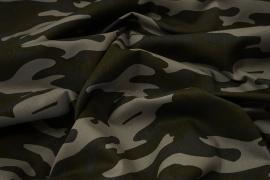 Tkanina bawełniana - kamuflaż beżowo-zielony