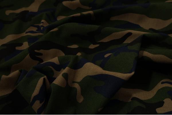 Tkanina bawełniana - kamuflaż granatowo-zielony