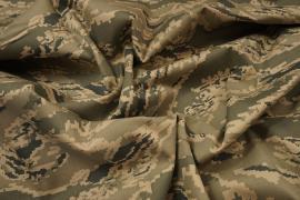 Tkanina kamuflażowa - kamuflaż cyfrowy beżowo-zielony